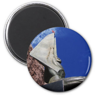 Winged Figure of the Republic 1255 2 Inch Round Magnet