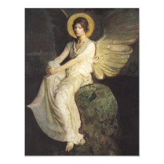 Winged Figure Seated Upon a Rock by Abbott Thayer Card