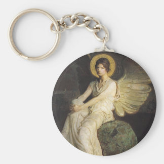 Winged Figure Seated Upon a Rock by Abbott Thayer Keychain
