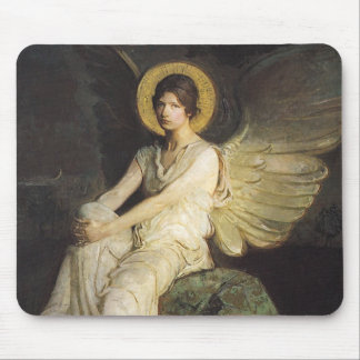 Winged Figure Seated Upon a Rock by Abbott Thayer Mouse Pad