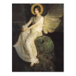 Winged Figure Seated Upon a Rock by Abbott Thayer Post Card