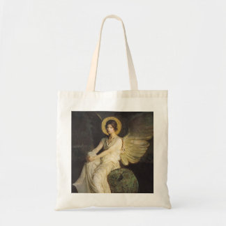 Winged Figure Seated Upon a Rock by Abbott Thayer Tote Bag