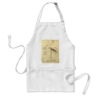 Winged Flying Machine Sketch by Leonardo da Vinci Adult Apron