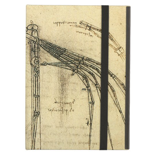 Winged Flying Machine Sketch by Leonardo da Vinci Cover For iPad Air