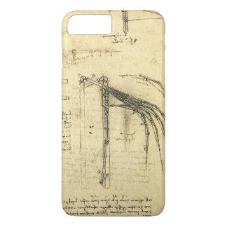 Winged Flying Machine Sketch by Leonardo da Vinci iPhone 8 Plus/7 Plus Case