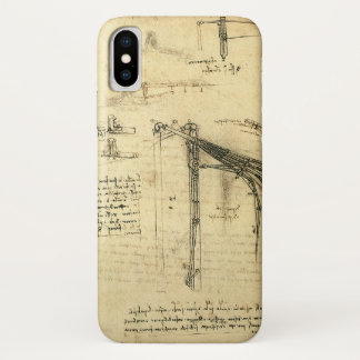 Winged Flying Machine Sketch by Leonardo da Vinci iPhone X Case