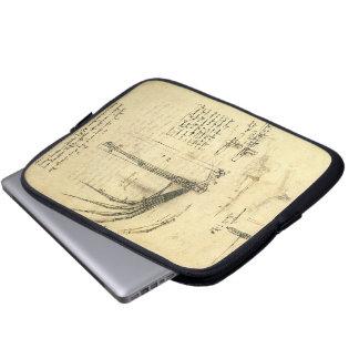 Winged Flying Machine Sketch by Leonardo da Vinci Laptop Sleeve