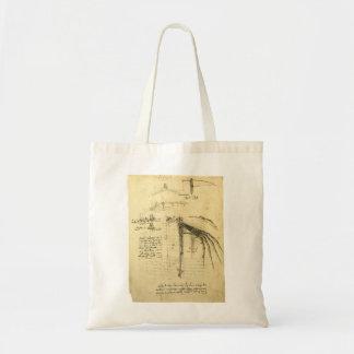 Winged Flying Machine Sketch by Leonardo da Vinci Tote Bag