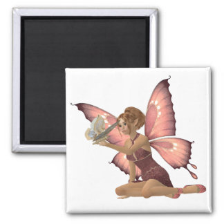 Winged Friends 2 Inch Square Magnet