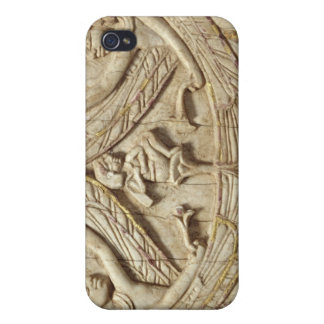 Winged genii, Assyrian Period, c.750 BC (ivory) iPhone 4 Cases