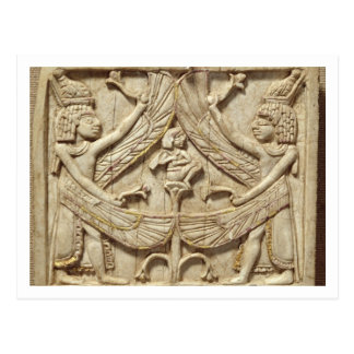 Winged genii, Assyrian Period, c.750 BC (ivory) Postcard
