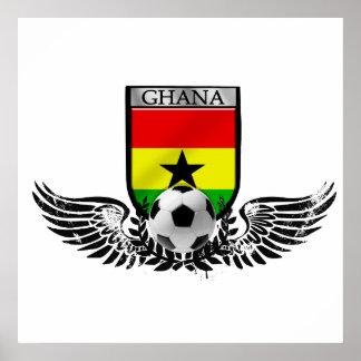 Winged Ghana soccer football emblem Poster