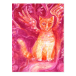 Winged Ginger Cat Post Cards