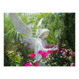 Winged Guardian Garden Angel Tropical Poster Photo