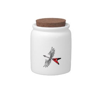 WINGED GUITAR CANDY JARS