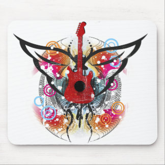 Winged Guitar Mouse Pads