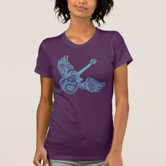 winged guitar music tshirt