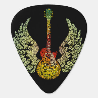 Winged Guitar Pick