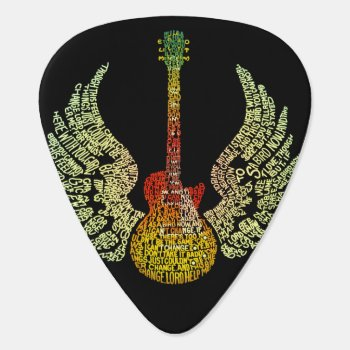 Winged Guitar Pick by customvendetta at Zazzle