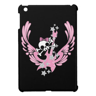 Winged Guitar with Cute Skull iPad Mini Case