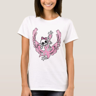 Winged Guitar with Cute Skull T-Shirt