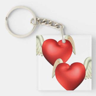 Winged Heart Acrylic Keychain
