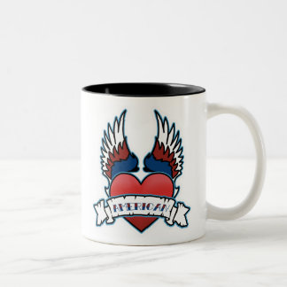 Winged Heart American Two-Tone Coffee Mug