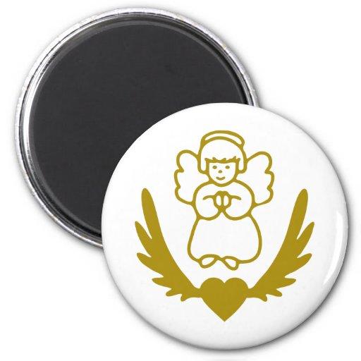 Winged-Heart-Angel.png Imán De Frigorifico