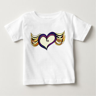 Winged Heart Baby Fine Jersey T-Shirt