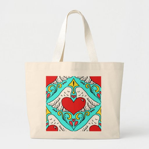 winged heart canvas tote bag