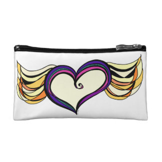 Winged Heart Cosmetic Bag
