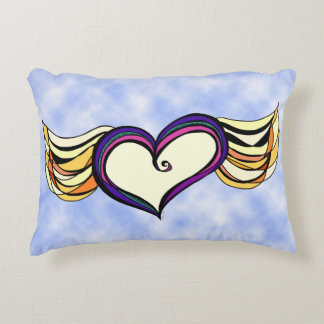 Winged Heart Custom Accent Pillow