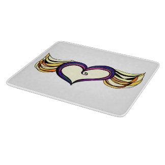 Winged Heart Custom Decorative Glass Cutting Board