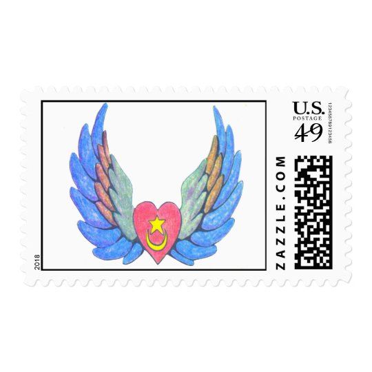 Winged Heart fixed Postage