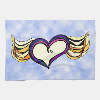 "Winged Heart in the Clouds Kitchen Towel 16"" x 24"""
