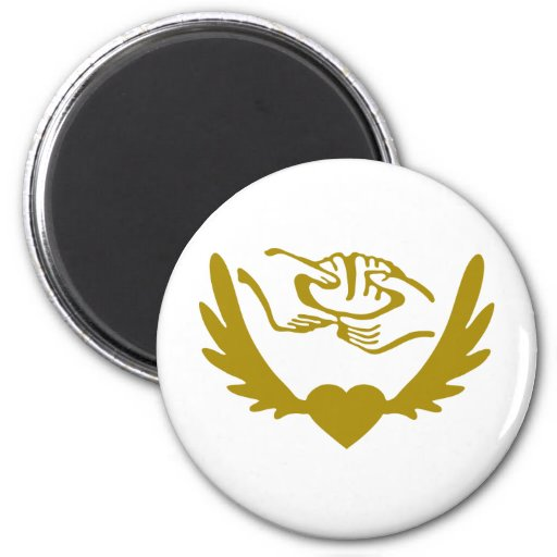 Winged-Heart-Jesus-3.png Fridge Magnet