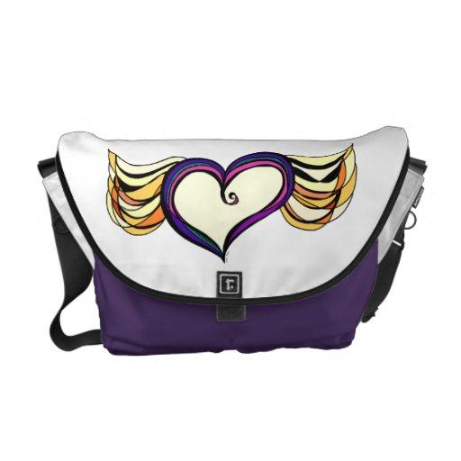 Winged Heart Medium Messenger Bag