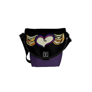 Winged Heart Mini Messenger Bag (dark)