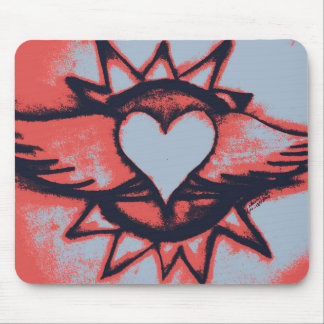Winged Heart Mouse Pad