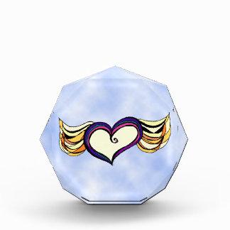 Winged Heart Octagon Acrylic Sculpture Award