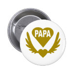 Winged-Heart-Papa.png Pinback Button