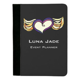 Winged Heart Personalized Padfolio