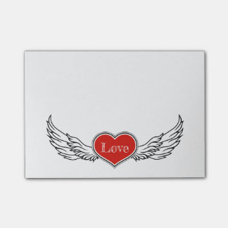 Winged Heart Post-it Notes