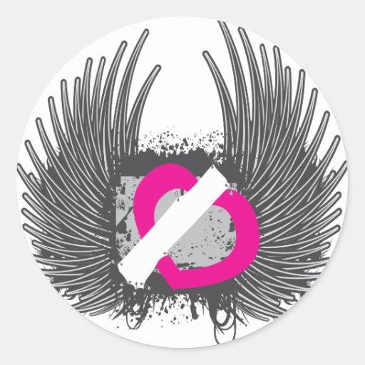 Winged Heart Sticker