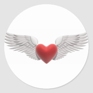 Winged Heart Stickers