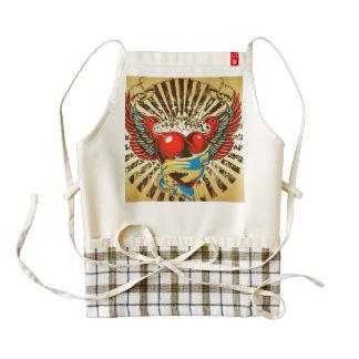 Winged heart tattoo zazzle HEART apron