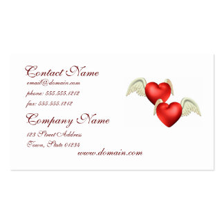 Winged Hearts Business Cards