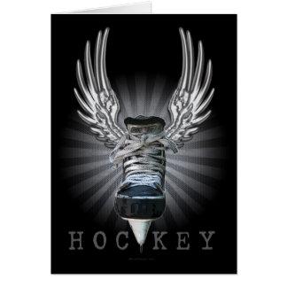 Winged Hockey Card