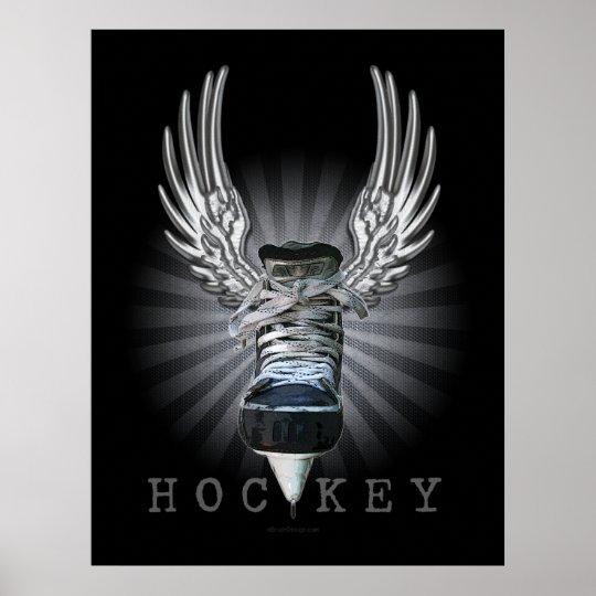 Winged Hockey Poster