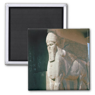 Winged human-headed bull, Neo-Assyrian Period 2 Inch Square Magnet
